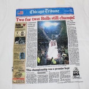 Vintage Chicago Bulls Newspaper Shirt